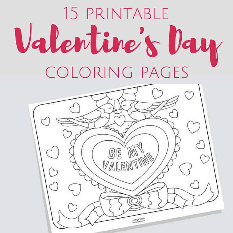 Valentine crafts for kids coloring pages