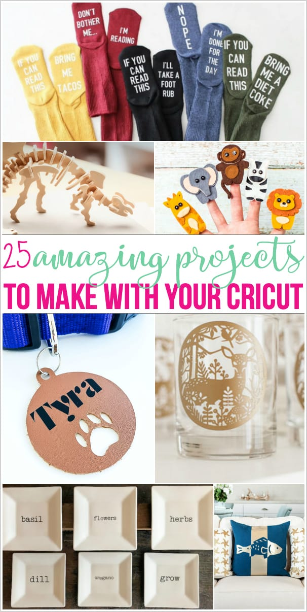 Variety of projects to make with a Cricut machine