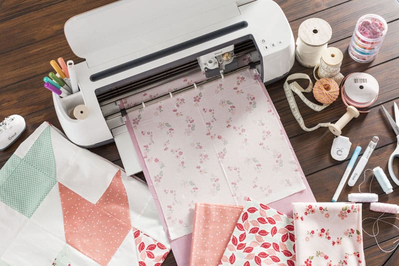 Sewing materials and supplies with a cutting machine