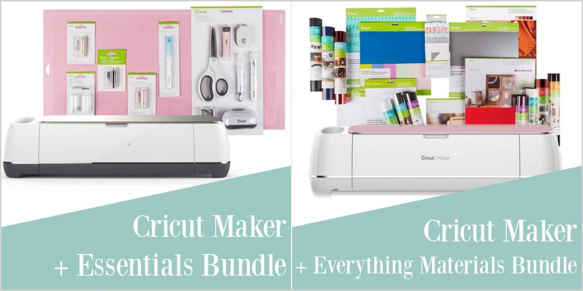 Cricut maker bundles with text overlay