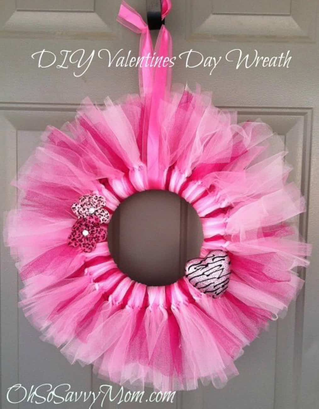 Valentine crafts for kids wreath