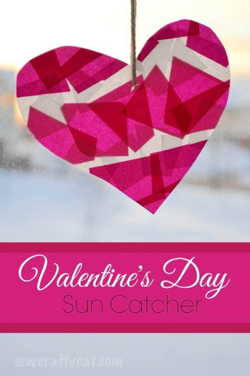 Valentine Crafts for Kids suncatcher
