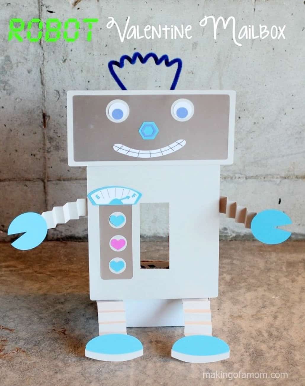 Valentine crafts for kids robot box