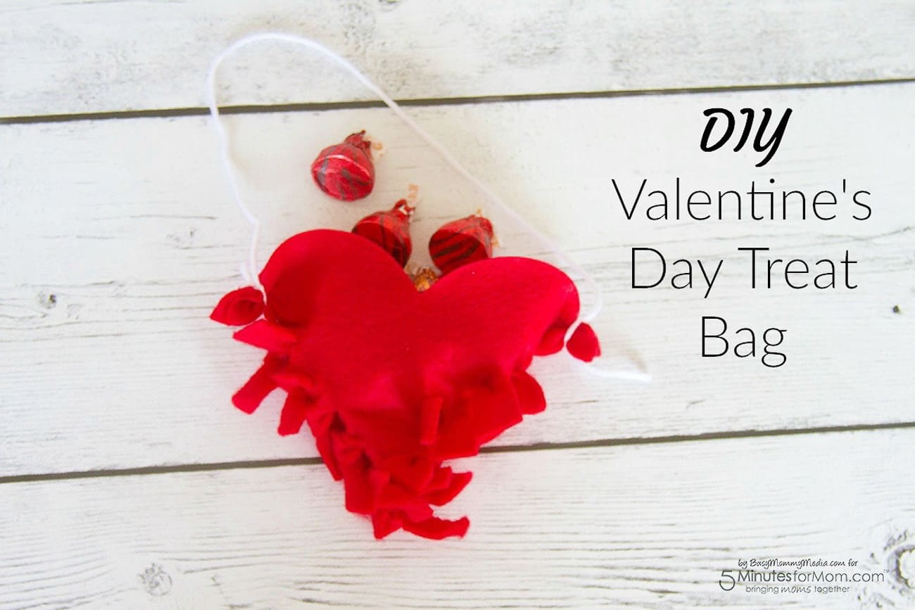 Valentine crafts for kids diy treat bag