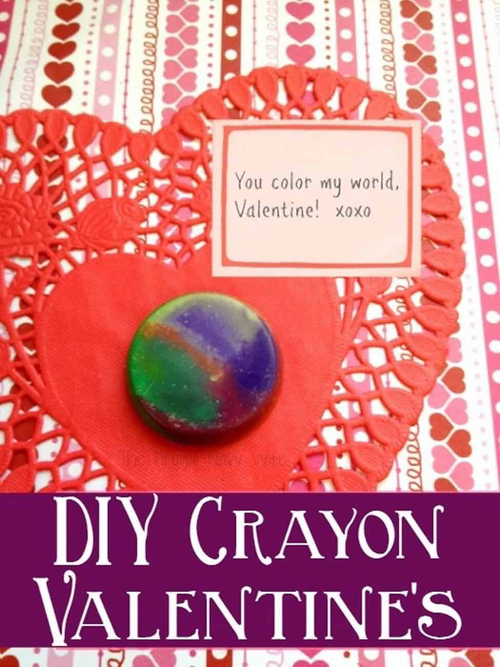 Valentine crafts for kids crayons