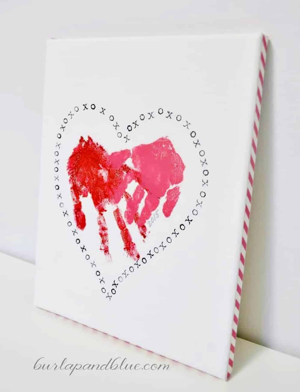 Valentine Crafts for kids handprint art