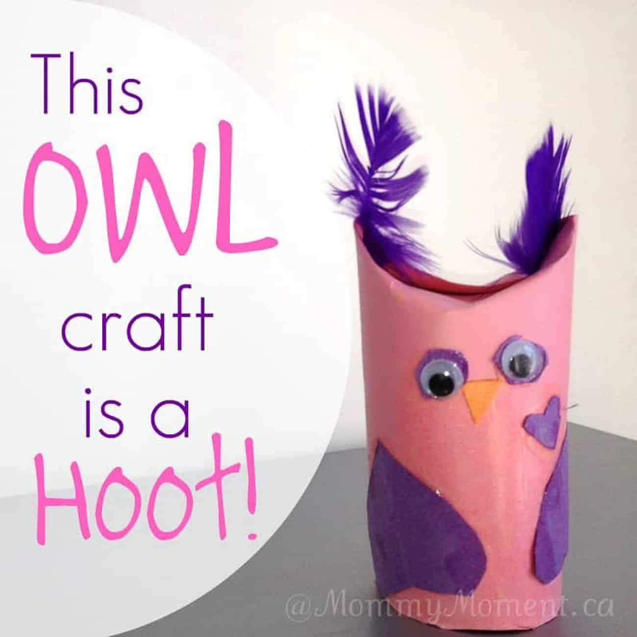 Valentine Crafts for Kids toilet paper owl