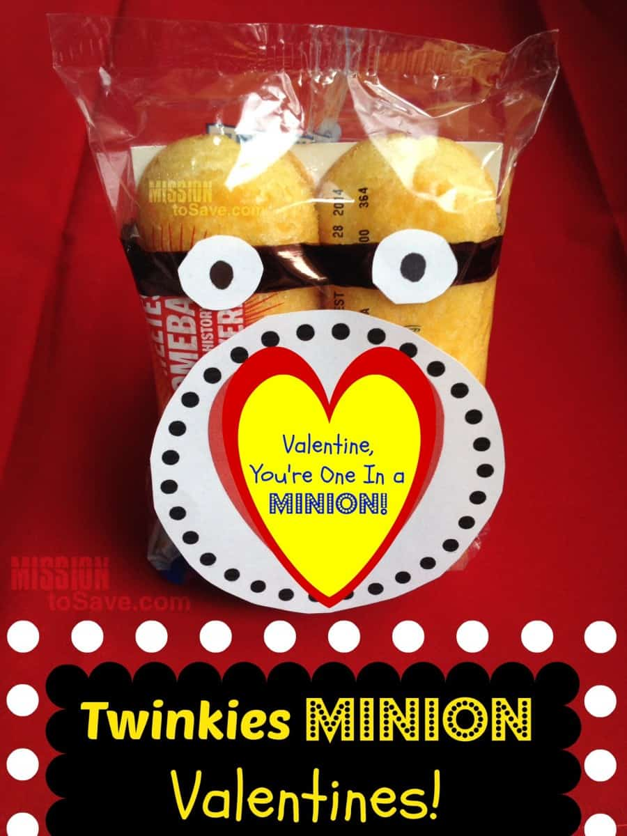 Valentine crafts for kids - Minions Twinkies