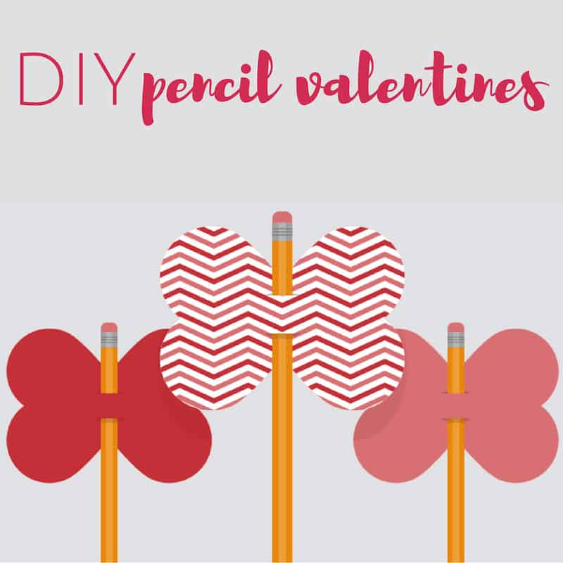 Valentine crafts for kids pencil toppers