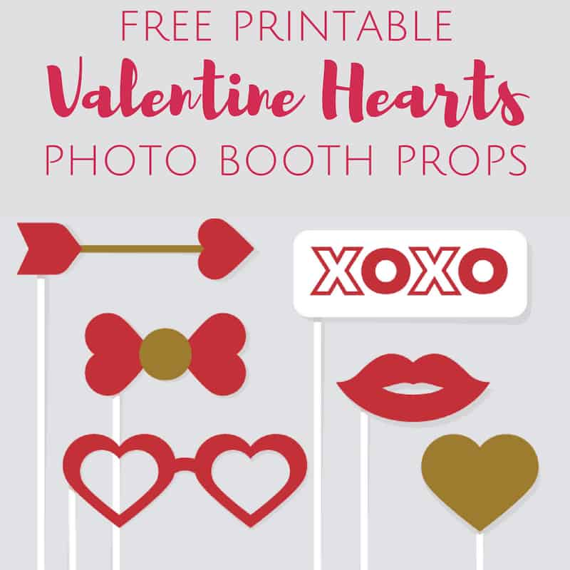 Valentine crafts for kids photo booth