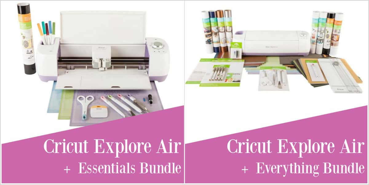 Cricut explore air bundles with text overlay