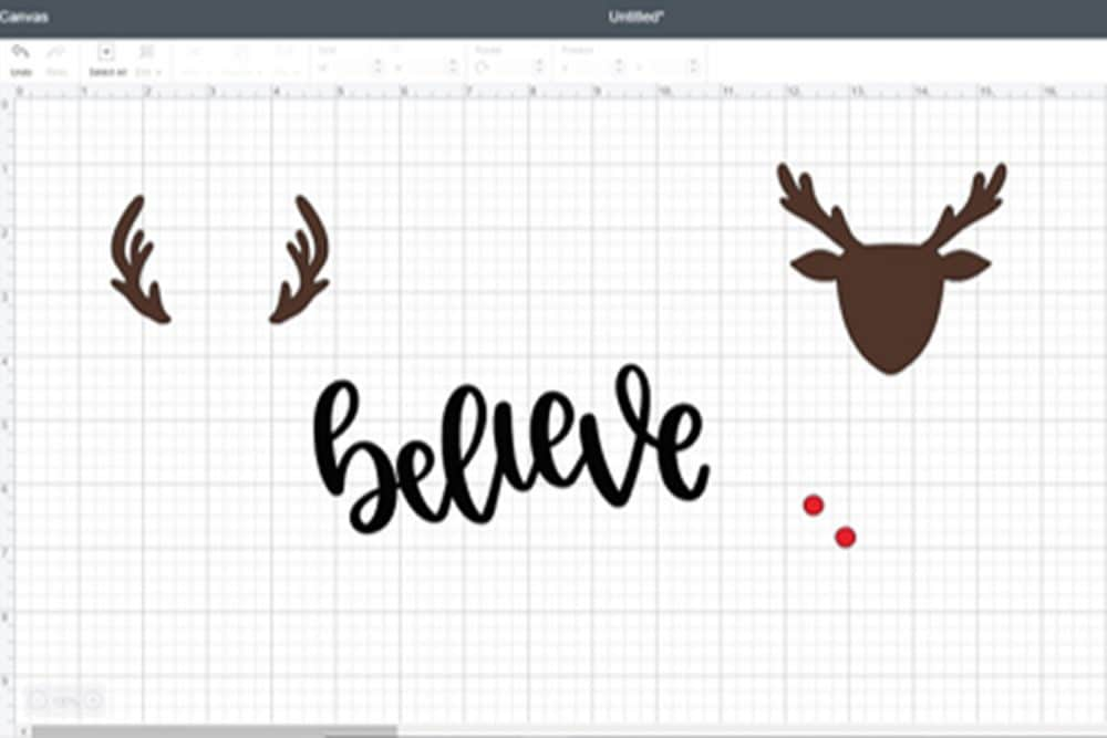 screen shot of Cricut design space with graphics