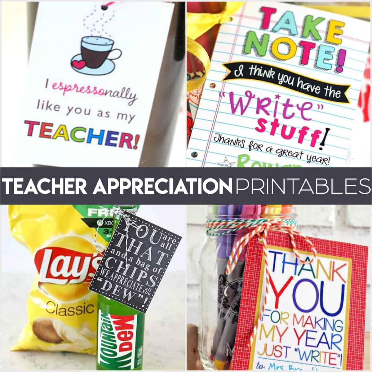 photo relating to Free Printable Teacher Gift Tags titled Trainer Appreciation Printables: Exciting Totally free Tags for Instructor