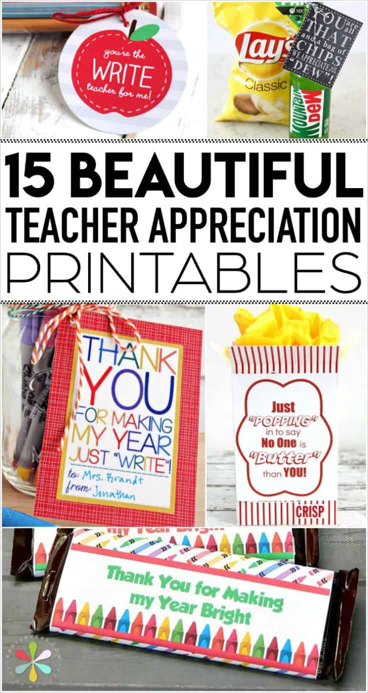 photograph regarding Free Printable Teacher Appreciation Tags identify Instructor Appreciation Printables: Enjoyable Totally free Tags for Instructor