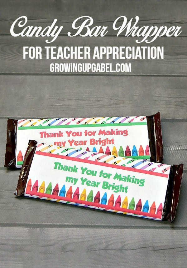 teacher appreciation printables candy bar wrapper