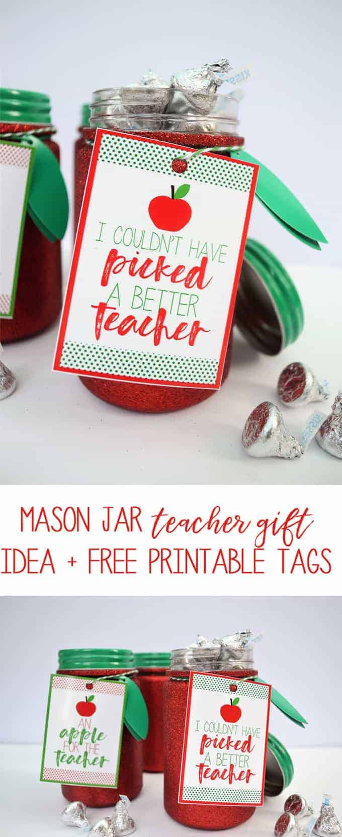 teacher appreciation printables mason jar gift