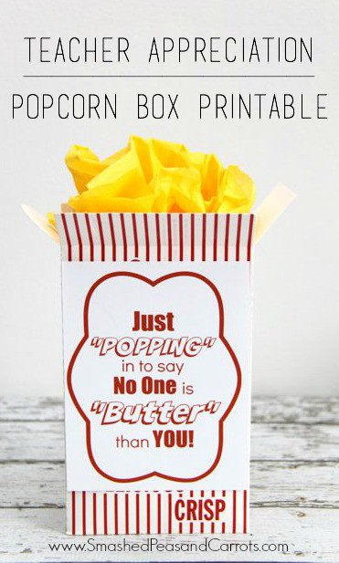teacher appreciation printables popcorn box