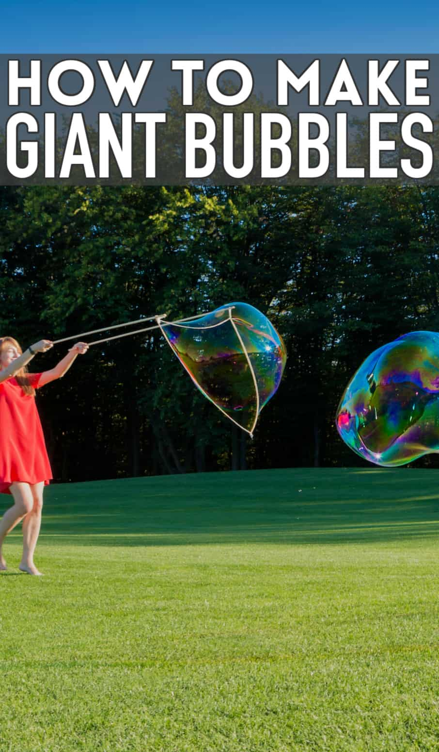 giant bubbles with wand