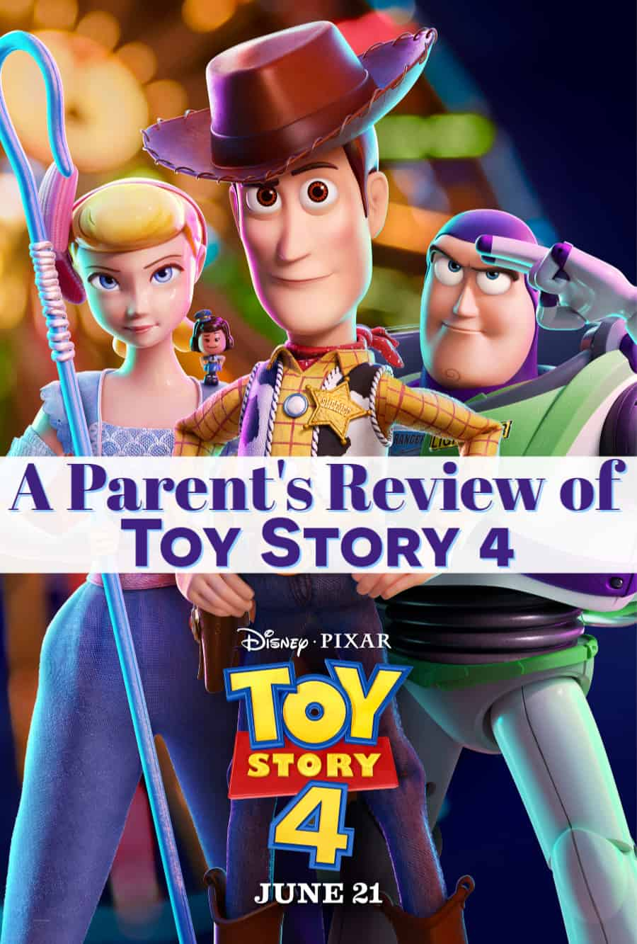 Toy Story 4 parent review guide