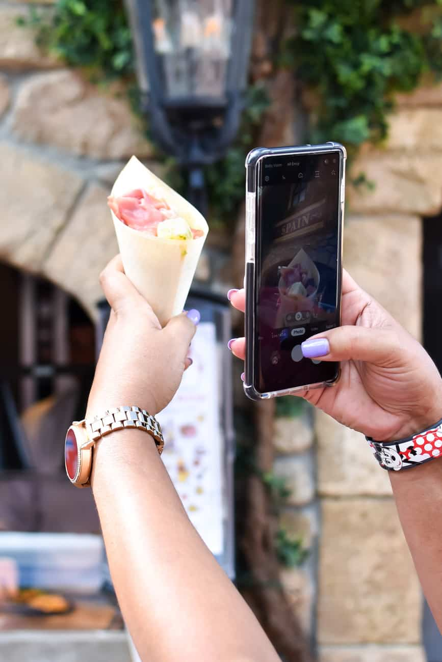 Best snacks at Epcot charcuterie cone