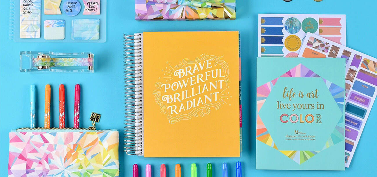 Erin Condren Deluxe Monthly Planner accessories