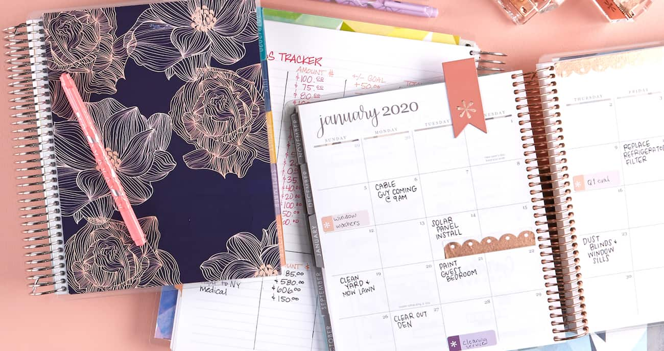 Erin Condren Deluxe Monthly Planner customizations
