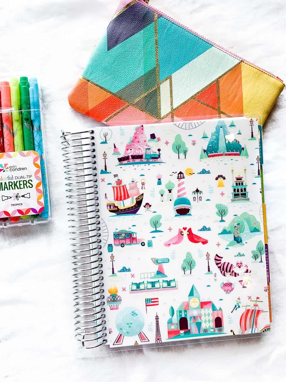 Erin Condren Deluxe Monthly Planner ways to use a monthly planner
