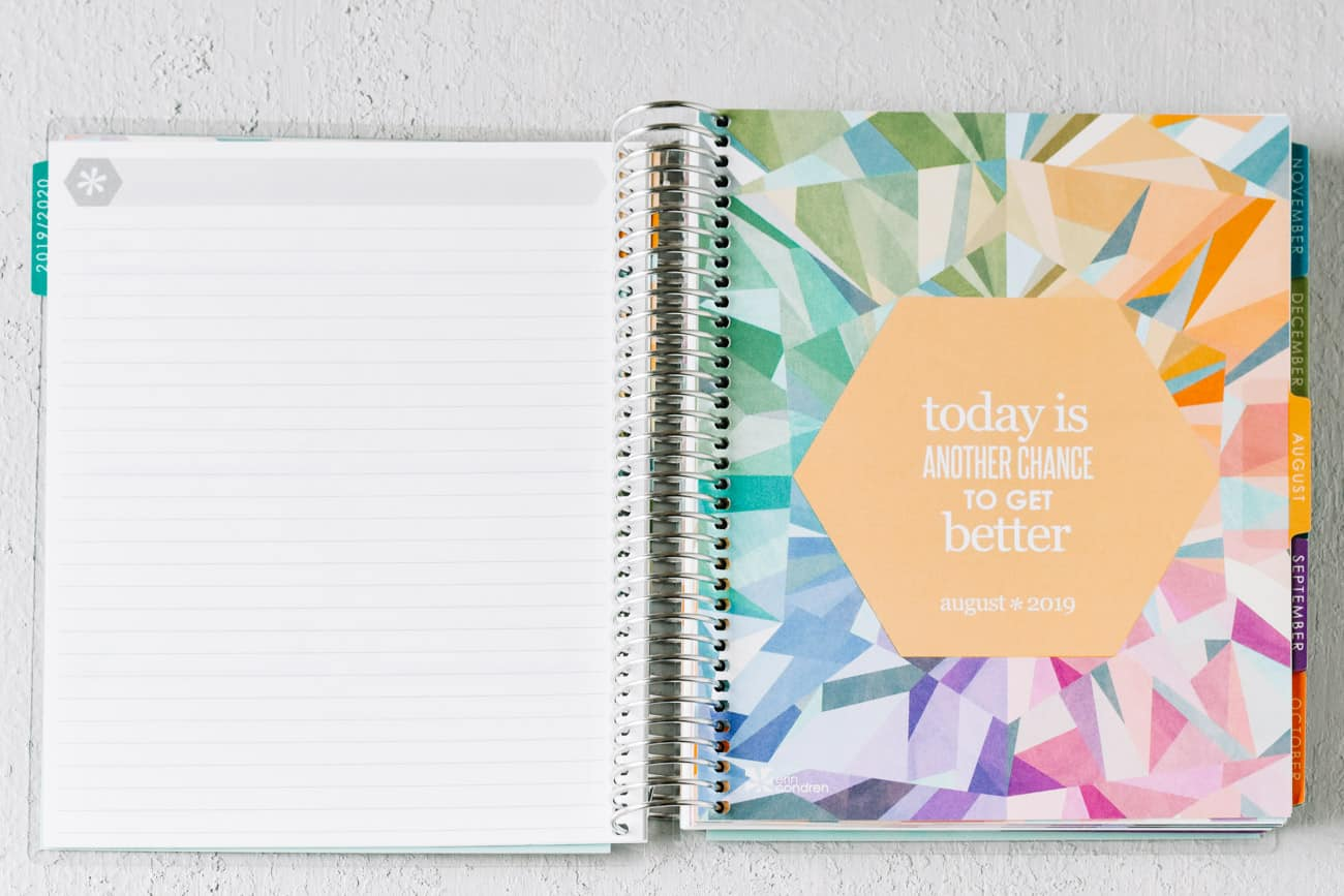 Erin Condren Deluxe Monthly Planner tabbed month