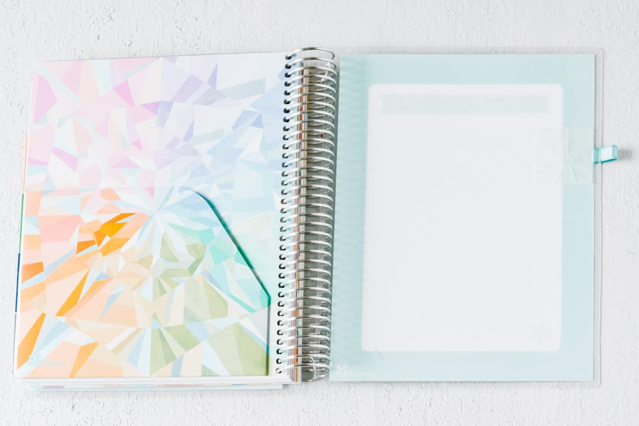 Erin Condren Deluxe Monthly Planner back folder