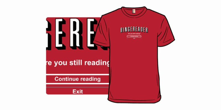 Bingereader Funny Shirt