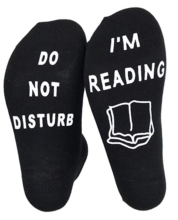 'Do Not Disturb I'm Reading' Funny Socks