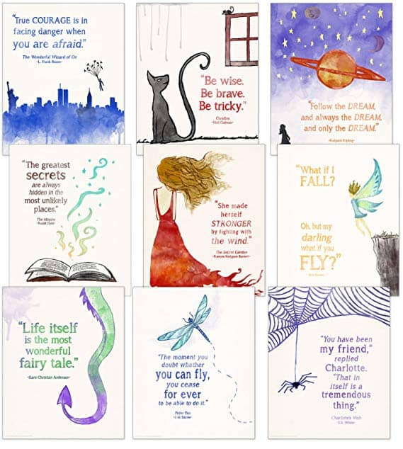 Children's Literature Quotes Poster Set