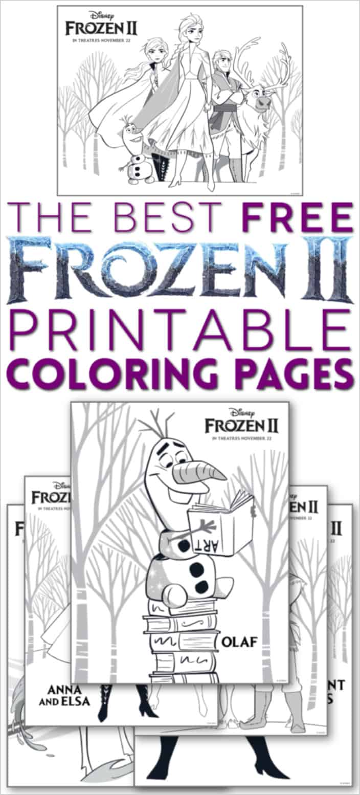 Frozen 2 coloring pages printable free