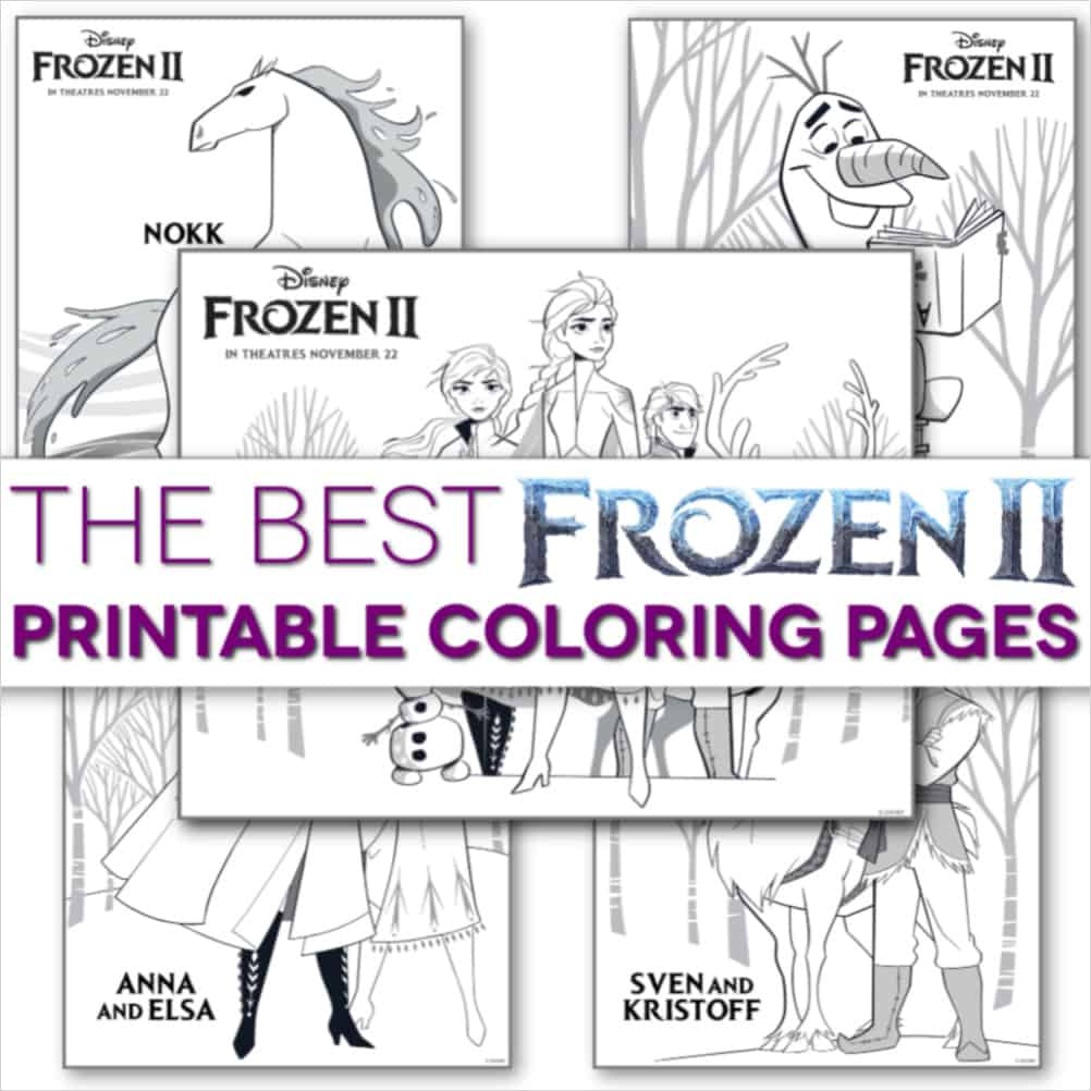 Frozen 2 coloring pages printable