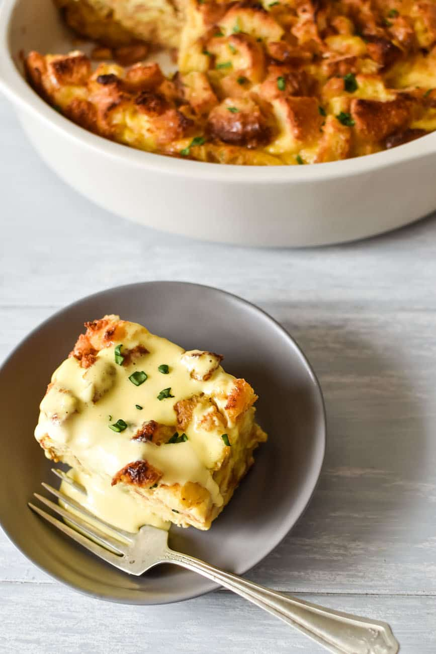 easy eggs benedict casserole recipe