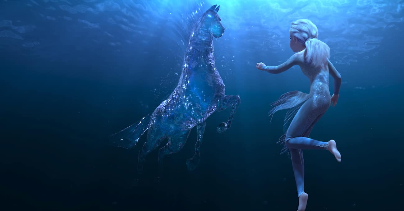 Frozen 2 water horse with Elsa