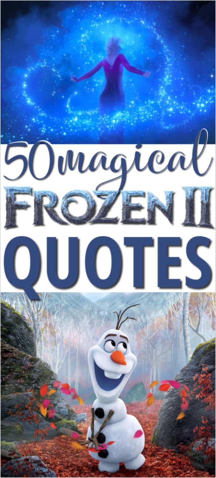 Frozen 2 quotes image with Elsa and Olaf