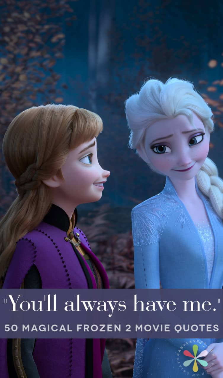 Anna and Elsa in Frozen 2