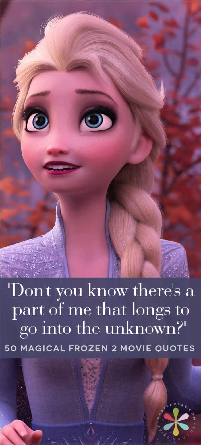 Elsa in Frozen 2 with quote text overlay