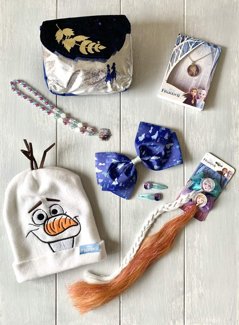 frozen 2 gifts - hat, purse, hair, bows, necklace