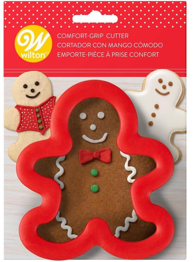 gingerbread man cookie cutter in red