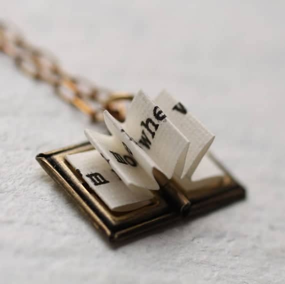 Book Lover's Locket Necklace