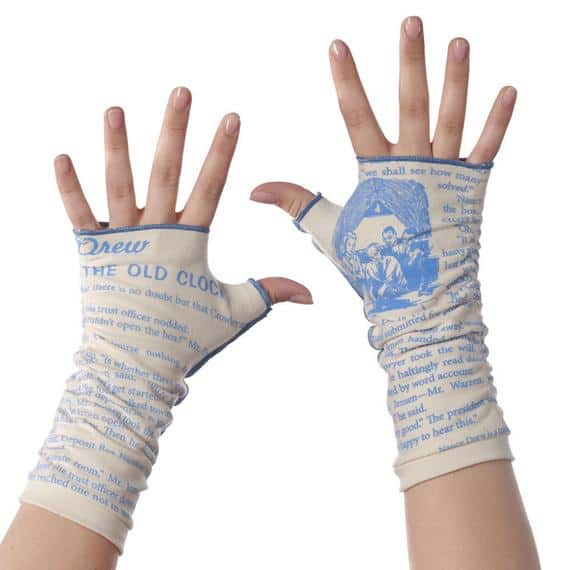Nancy Drew Fingerless Writing Gloves