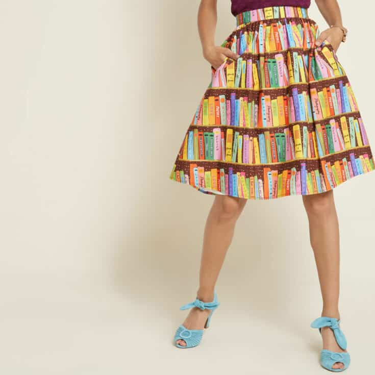 Library Skirt with Pockets