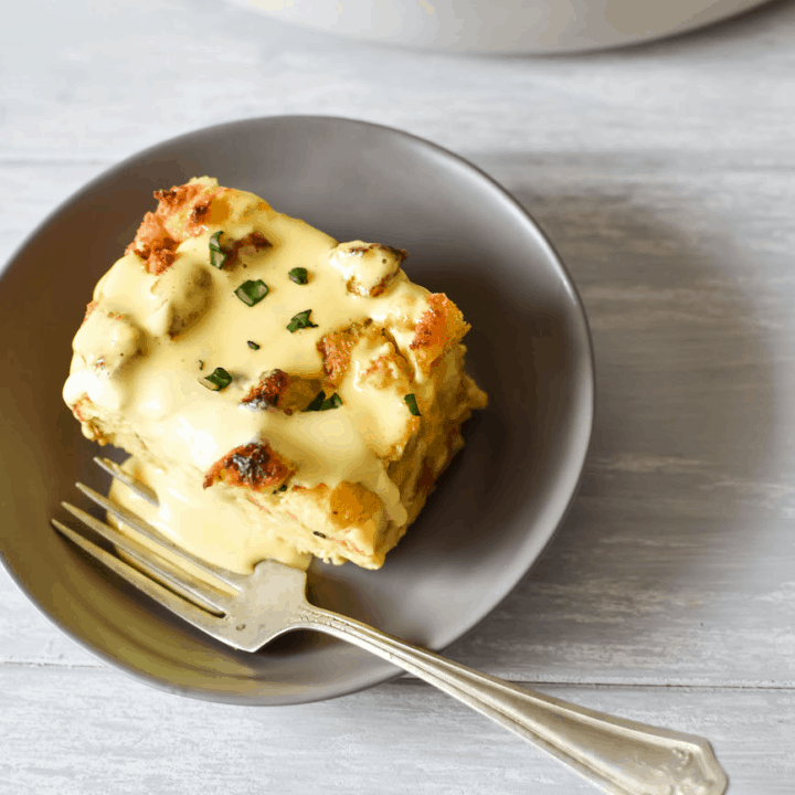 Christmas Morning Breakfast Casserole With Hollandaise Sauce