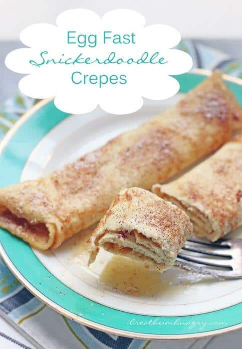 egg fast crepes snickerdoodle