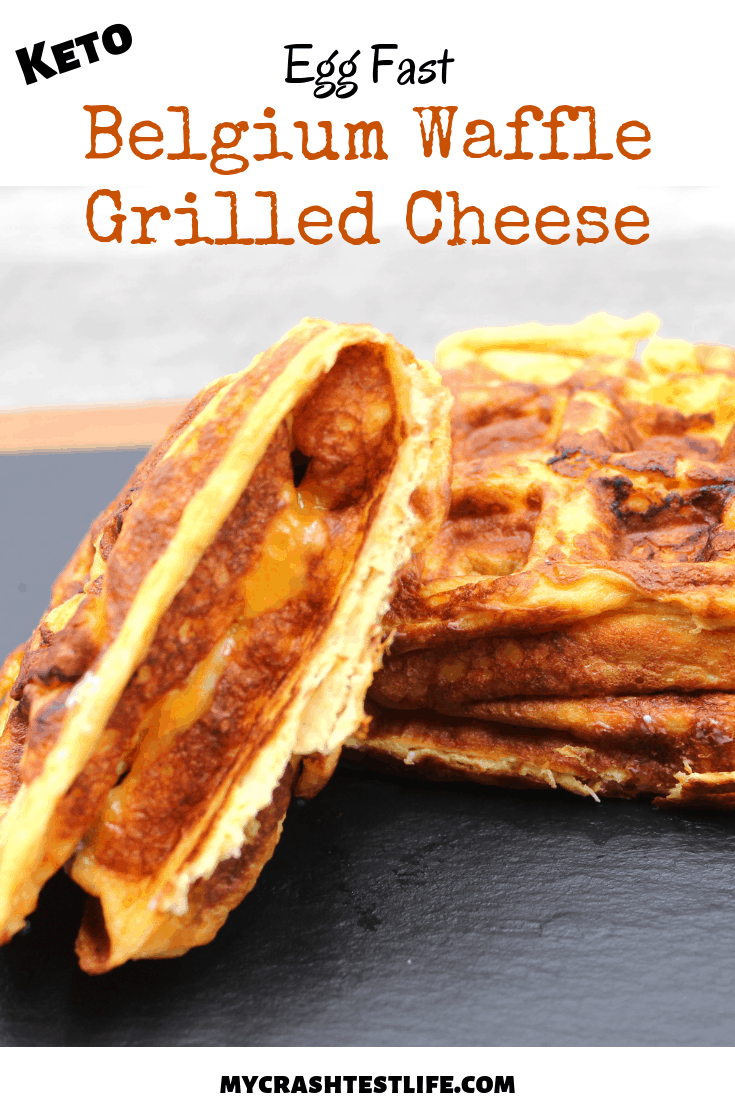 keto egg fast Belgian waffle grilled cheese