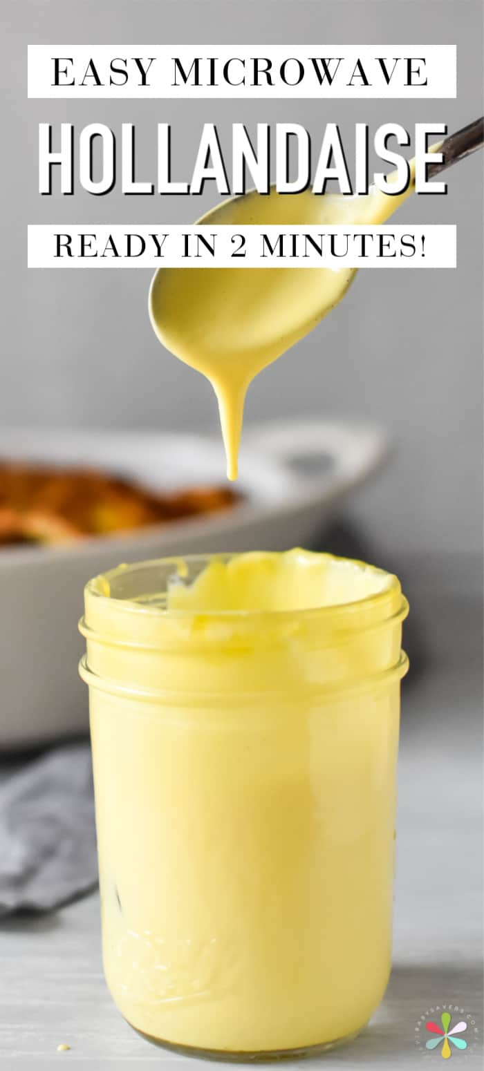 Best microwave hollandaise sauce recipe. It's done in two minutes, it's delicious and it's no-fail!