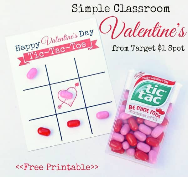 tic tac toe valentines with tic tacs