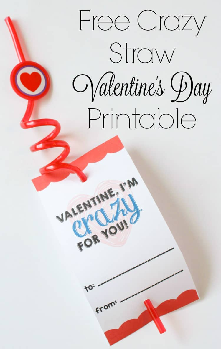 free valentine printables attached to a crazy straw